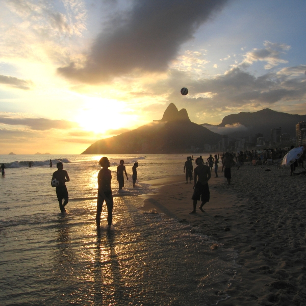 Relaxing at Ipanema Beach