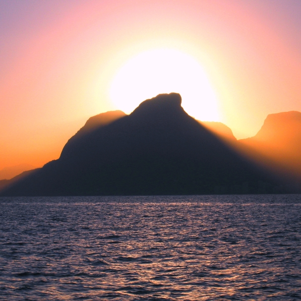 Beautiful sunset in Rio